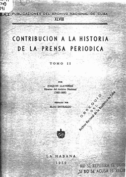 CONTRIBUCION A LA HISTORIA DE LA PRENSA PERIODICA