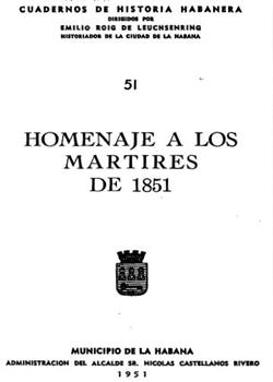 HOMENAJE A LOS MARTIRES DE 1851