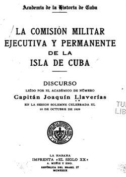 LA COMISION MILITAR Y PERMANENTE DE LA ISLA DE CUBA