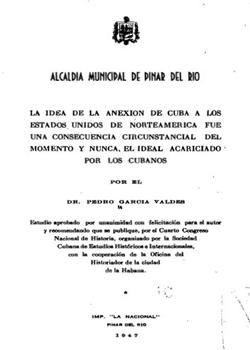 LA IDEA DE LA ANEXION DE CUBA A LOS ESTADOS UNIDOS
