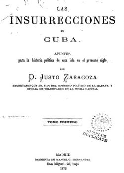 LAS INSURRECCIONES EN CUBA