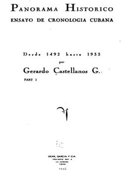 PANORAMA HISTORICO