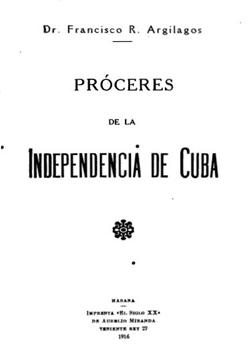 PROCERES DE LA INDEPENDENCIA DE CUBA